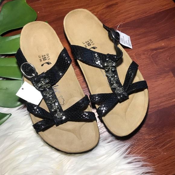 c24e486fac7e26 NEW Birkenstock betula embossed Sandals jeweled